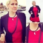 Jednoduchý outfit: Černá a červená