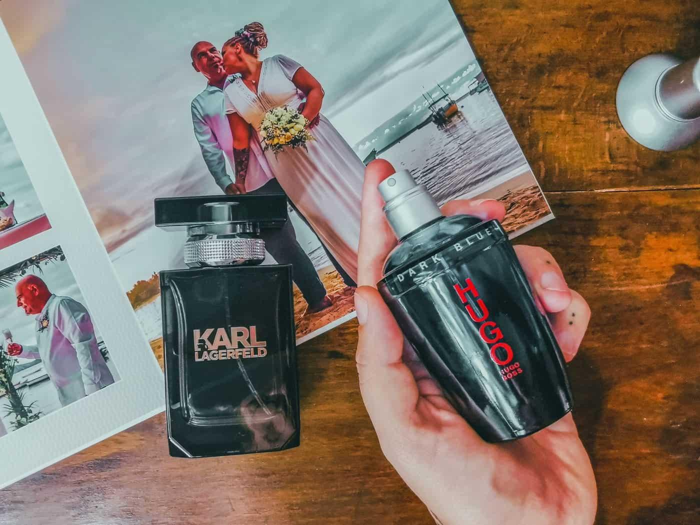 pánské parfémy Hugo Boss a Lagerfeld